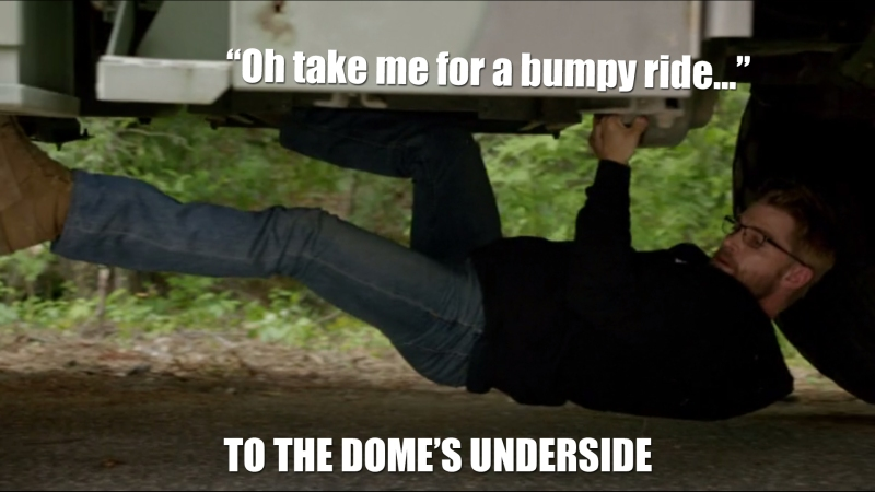 Oh, take me for a bumpy ride...to the Dome's underside.
