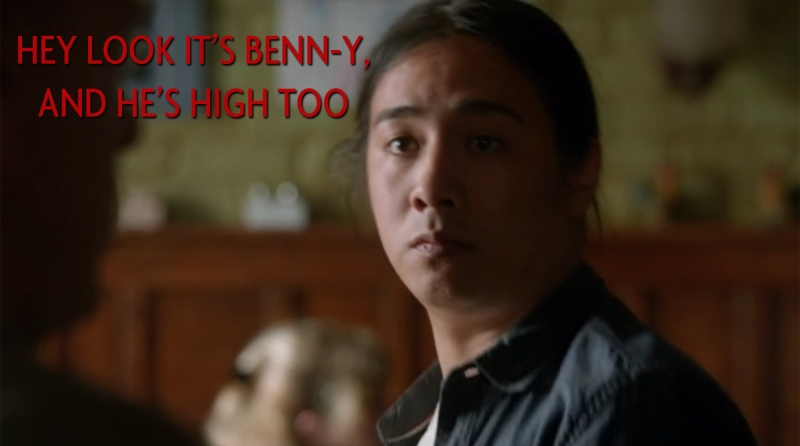 Hey look, it's Benn-y, and he's high too.
