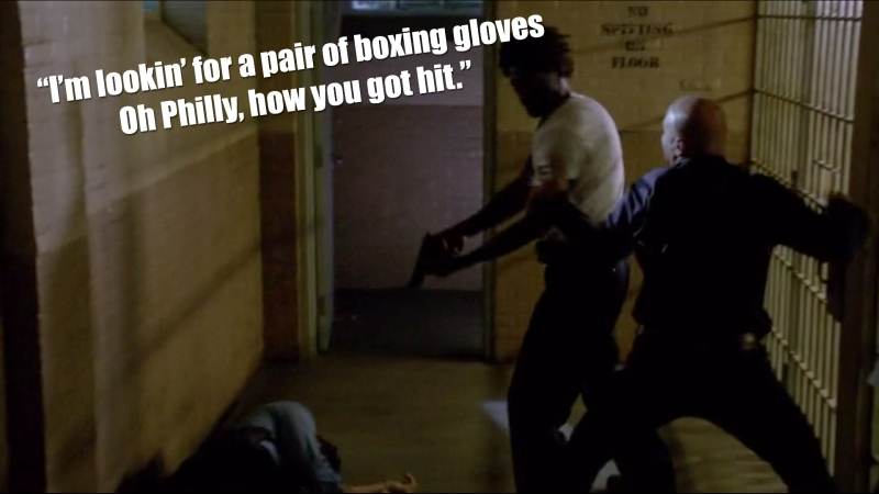 """I'm looking for a pair of boxing gloves, Oh Philly, how you got it"""