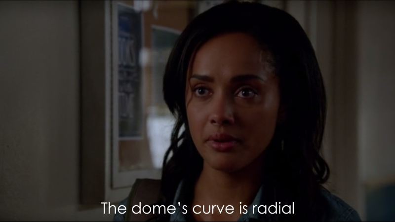 The dome's curve is radial.
