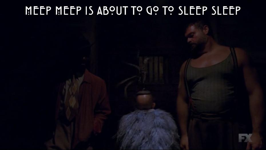 Meep Meep is about to go to Sleep Sleep