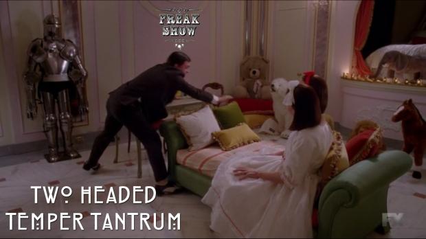 Two headed temper tantrum