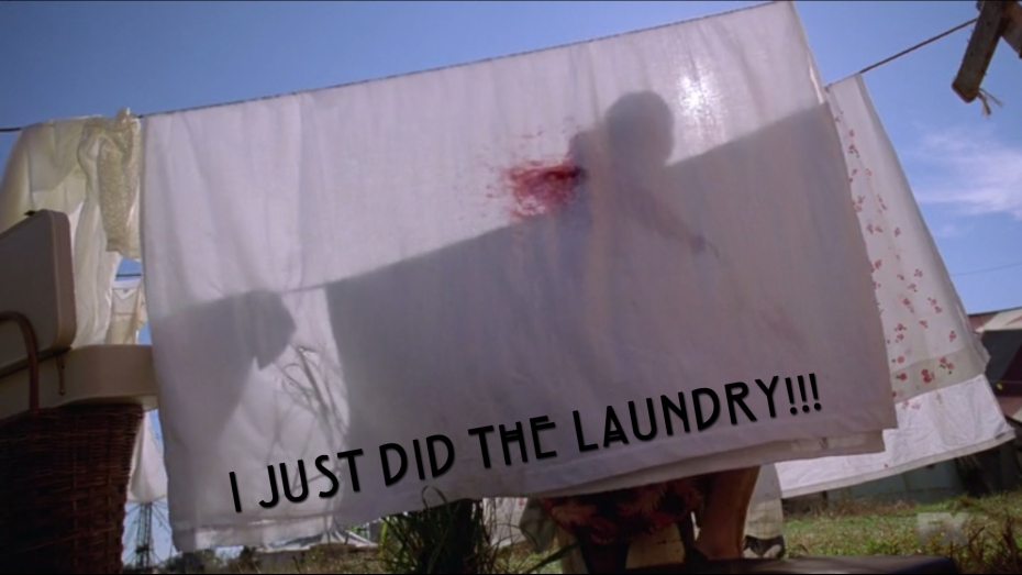 I just did the laundry!