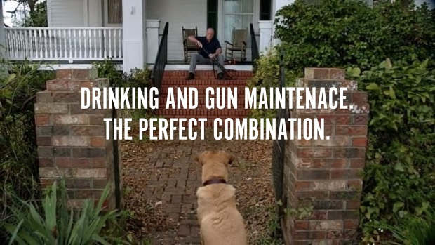 Drinking and Gun Maintenance. The Perfect Combination.