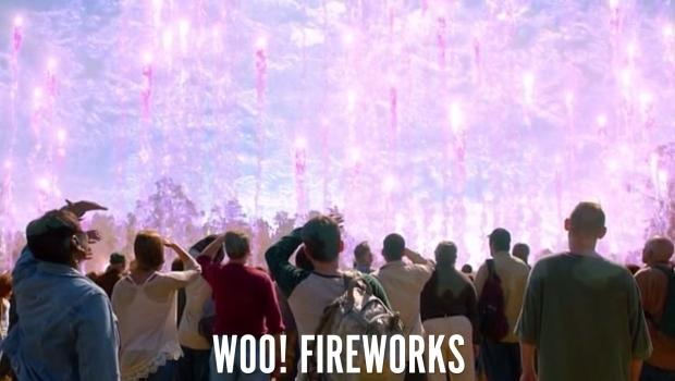Woo! Fireworks!