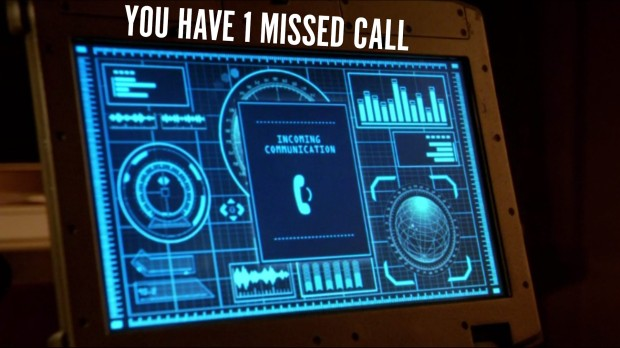 You have 1 missed call