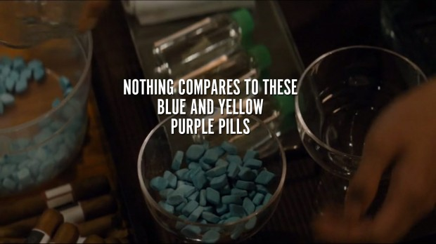 Nothing compares to these blue and yellow purple pills