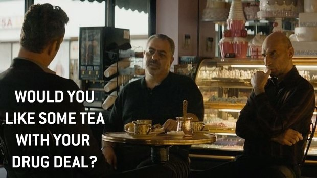 """Would you like some tea with your drug deal?"""