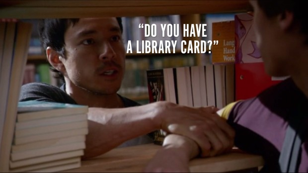 """Do you have a library card?"""