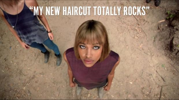 """My new haircut totally rocks"""