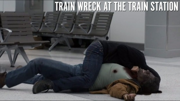 Train Wreck at the Train Station