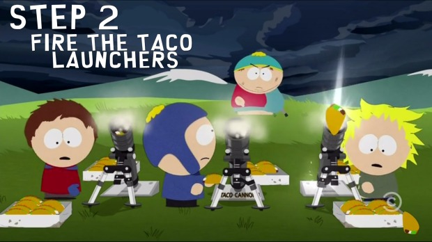 Step 2: Fire the Taco Launchers