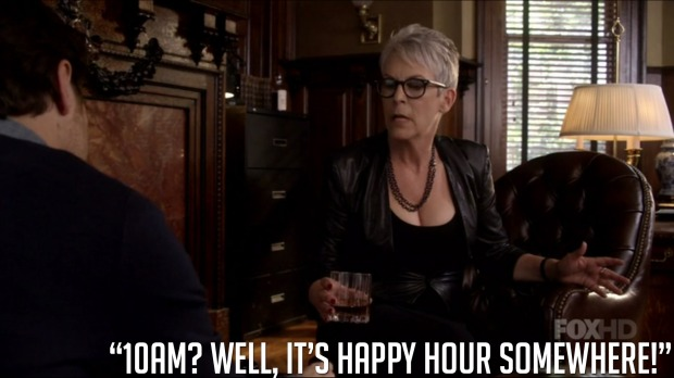 """10AM? Well, it's happy hour somewhere."""