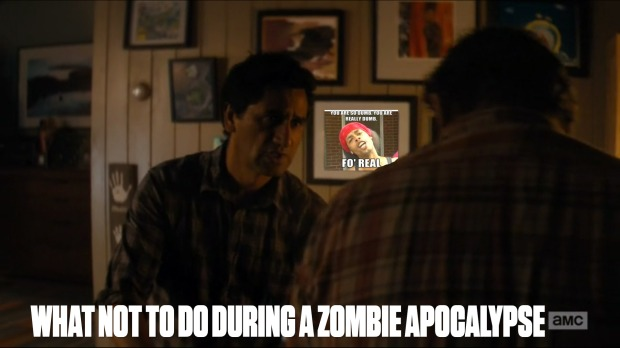 What Not To Do During A Zombie Apocalypse